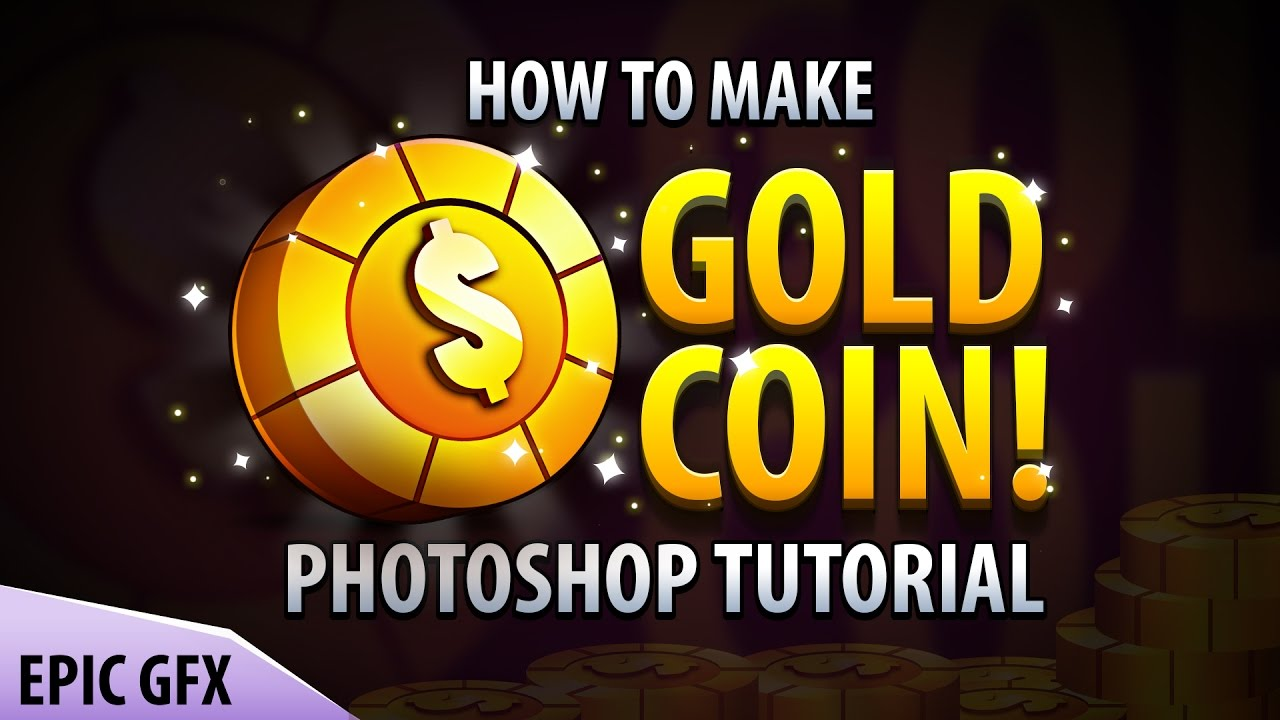 How to make game coin | Photoshop Tutorial | by Creatuts