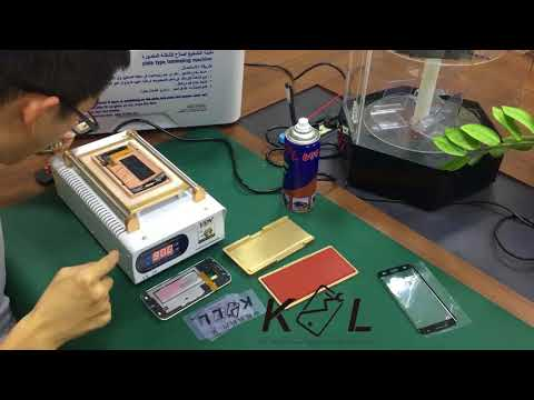 Samsung Edge OLED Lcd Screen Curved Screen Replace Glass Repair Refurbishing Process