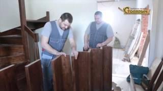 Изготовление и установка лестницы Столярыч(Показан процесс замеров, проектирования, изготовления и монтажа лестницы на второй этаж., 2016-04-08T13:37:52.000Z)