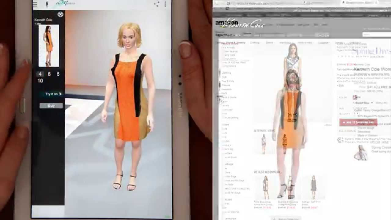 Virtual fitting room real time mobile app youtube for Custom dress shirts app