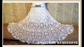 Юбка с ананасами. knitted crochet skirt