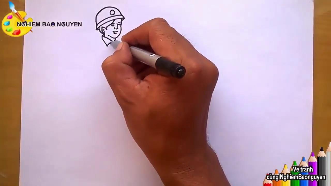 Chủ đề Vẽ chú bộ đội – Mĩ thuật lớp 4