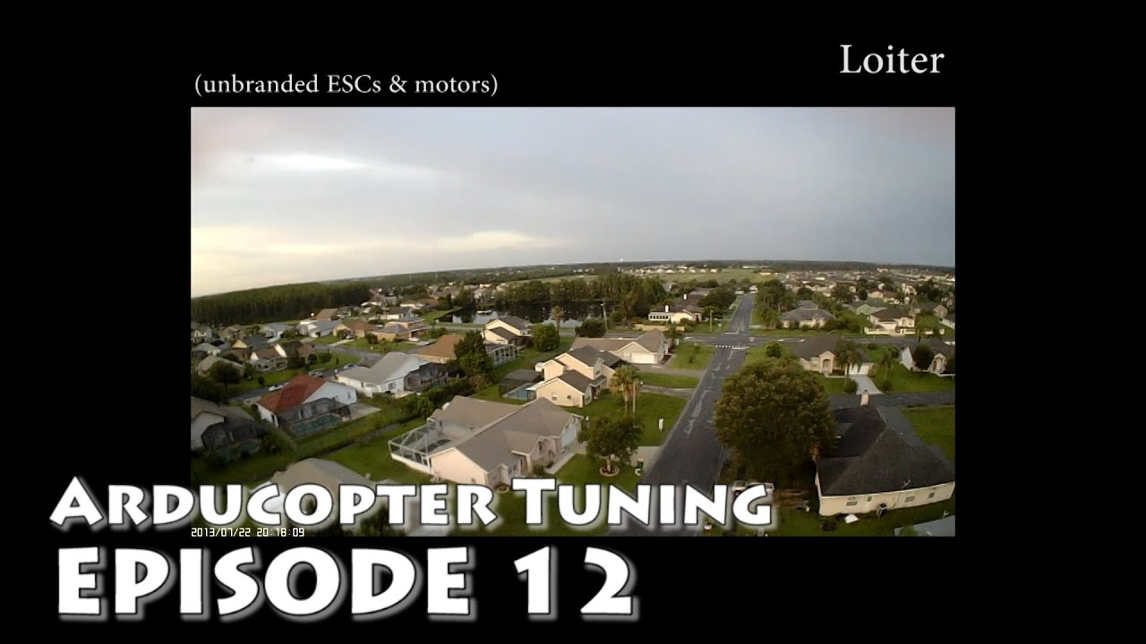 Arducopter 3 0 1 Loiter, Yaw, RTL, Position Hold test  PID tuning