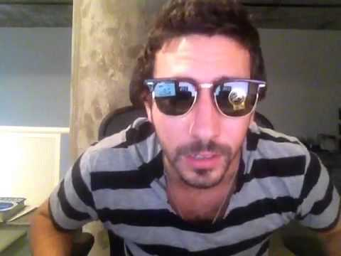 Ray-Ban Clubmasters RB3016 Sunglasses Size Review - YouTube ac9db3ff042