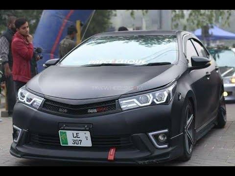 Corolla Vs Civic >> Toyota Corolla Matte Black Rolla || Pakwheels Lahore Auto Show - YouTube
