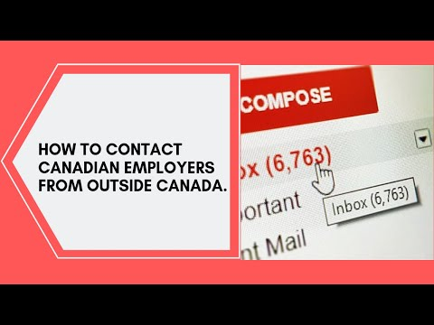How To Contact Canadian Employers From Outside Canada.