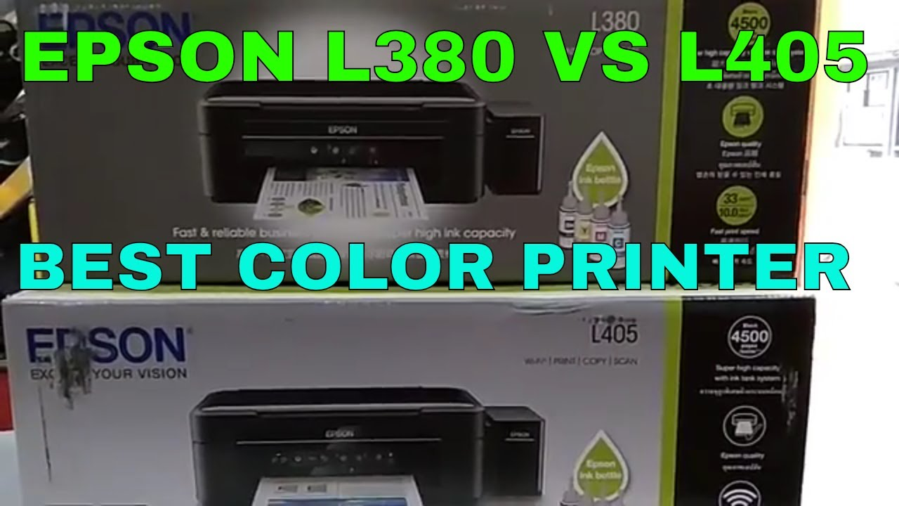 EPSON L380 AND L405