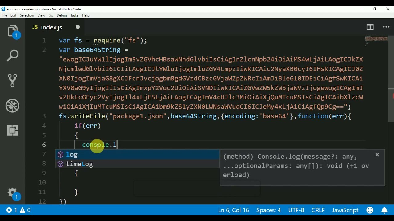converting base64 to file in node js