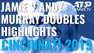 Best Shots And Rallies As Jamie Murray Beats Andy Murray In Doubles! | Cincinnati 2019 Day 5 Video