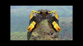 Dangerous Idiots Operator Trucks Extreme Heavy Equipment Excavator Fastest Driver Fails \u0026 Skill