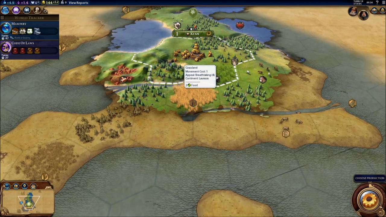 Civilization 6 Earth Map Huge Chinese Empire 1 Youtube
