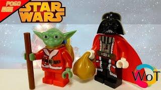 Новогодние Лего Минифигурки Дарт Вейдер и Йода Звездные Войны