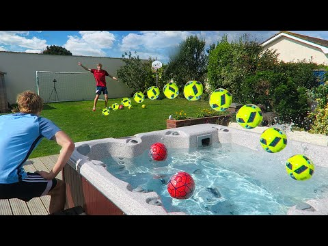 EXTREME GARDEN FOOTBALL CHALLENGES