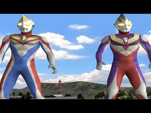 Ultraman Dyna & Ultraman Tiga TAG Team Mode ★Play ウルトラマン FE3