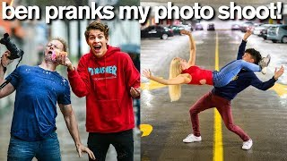 Ben Azelart Pranks My Photo Shoot *Bad Idea*