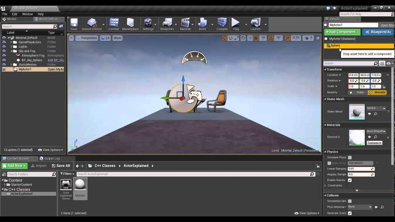 Unreal Engine 4 - Actor & Components using C++ (Part 1/3)