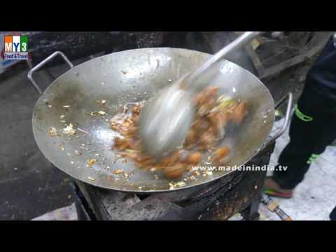 VEG MANCHURIAN MAKING IN FAST FOOD CENTER   STREET FOODS IN INDIA