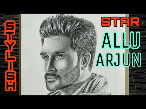 Drawing Stylish Star - ALLU ARJUN || Sarrinodu || DJ || Son of Satyamurthy || Race Gurram