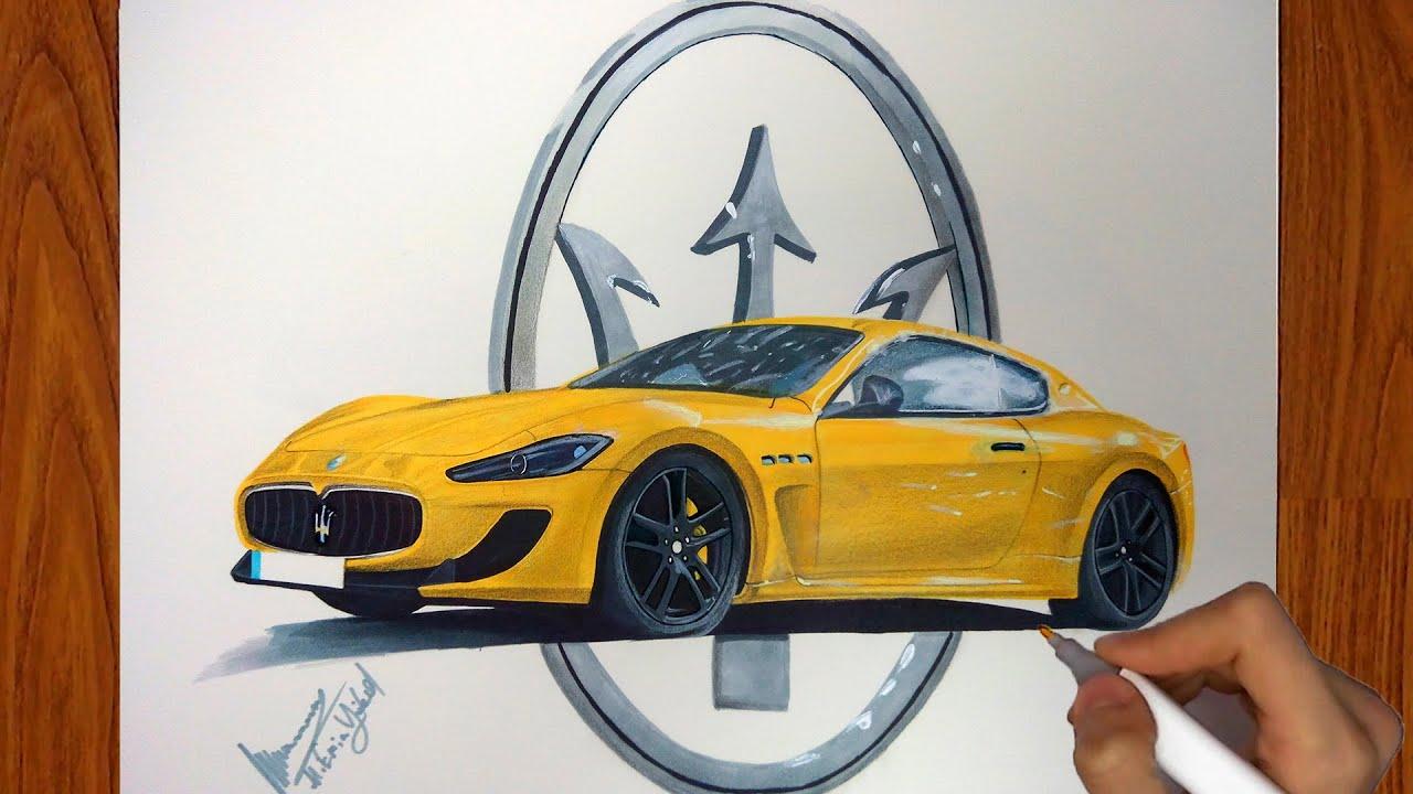 Maserati Granturismo Mc >> Maserati Granturismo MC Stradale Çizimi | Car Drawing ...
