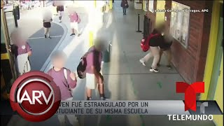 Joven fue estrangulado por un compañero de su misma escuela | Al Rojo Vivo | Telemundo