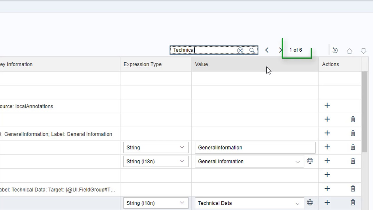 Searching for annotations in SAP Web IDE