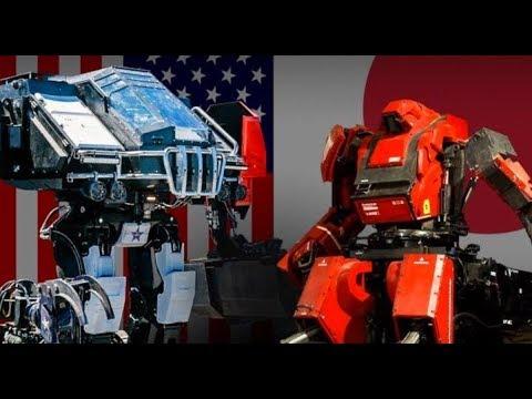 "MegaBots' ""Eagle Prime"" VS  Suidobashi Heavy Industries' ""Kuratas"" Robot Battle LIVE!"