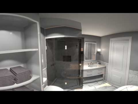 VORTEK Spaces Bathroom 360° video walkthrough