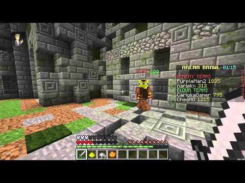 Minecraft Arena Brawl: So na fire ball PT-BR CariokaGamer