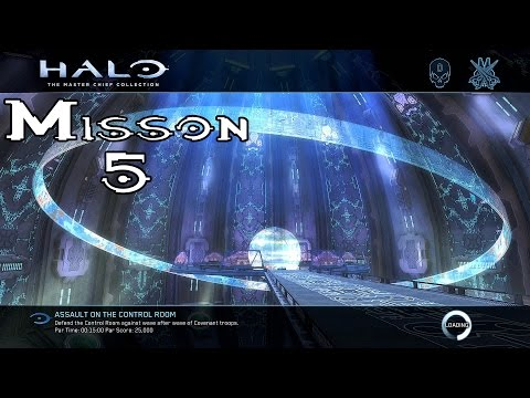 Halo Ce Anniversary - Assault On The Control Room - Mission 5 (1080p60fps) Xbox One MCC