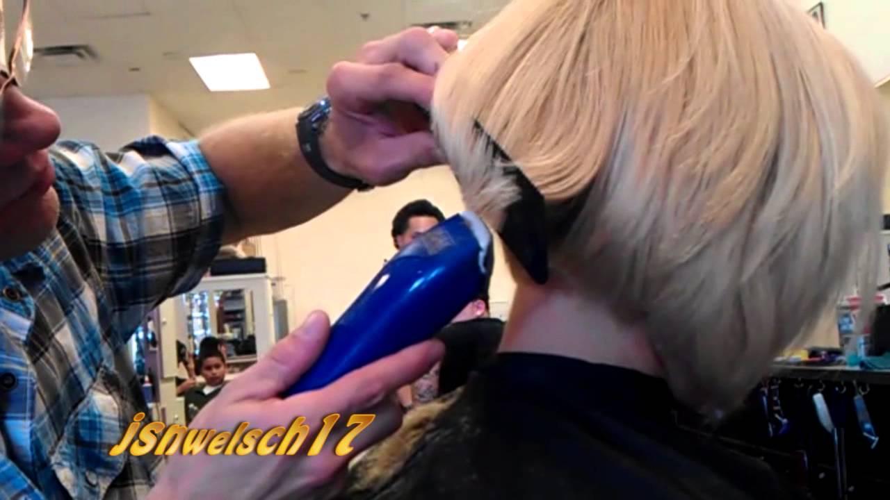 Womans clipper Haircut ✂ womens clipper bob haircut ✂ Womens hairstyles /  Original VIDEO
