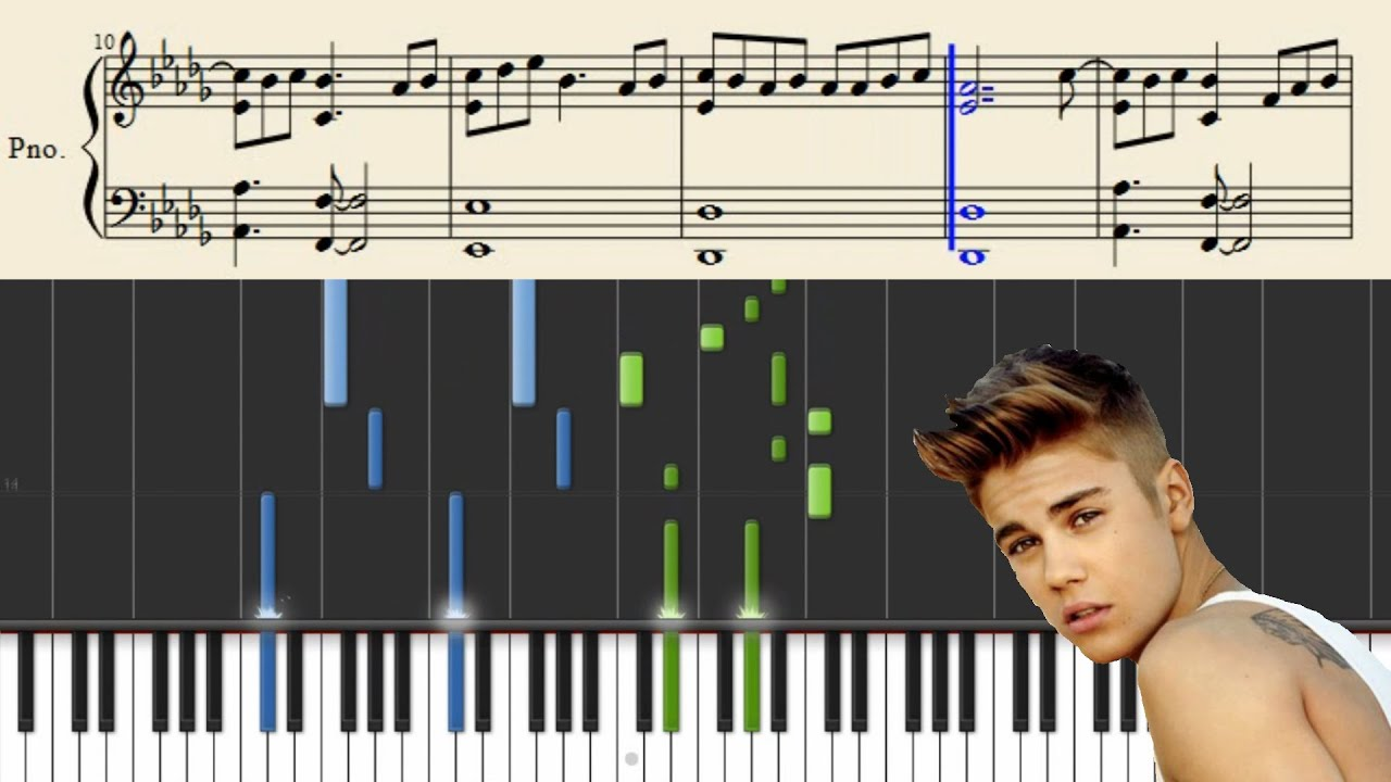 Justin Bieber - What Do You Mean - Piano Tutorial + Sheets - YouTube