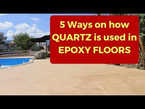 Quartz Epoxy Flooring: 5 ways on how to use quartz sand in epoxy floors