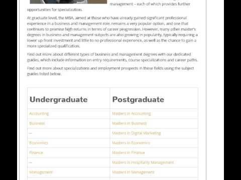 Business & Management Degrees