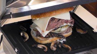 Ribeye Steak Panini Sandwich ~ Cuisinart Griddler GR-4N ~ Amy Learns to Cook