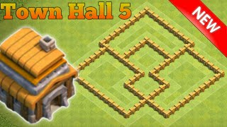 Clash of Clans | Best Th5 Trophy Pushing Base 2017 | Clash of Clan base