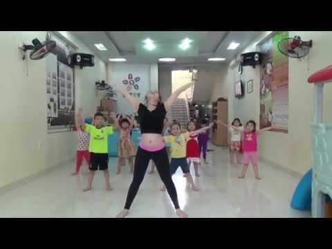 Bài tập Aerobic lớp năng khiểu - Trường Mầm non KITTY Hải Phòng