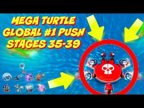 MEGA TURTLE :: GLOBAL #1 PUSH :: STAGES 35-39 :: BOOM BEACH NEW EVENT