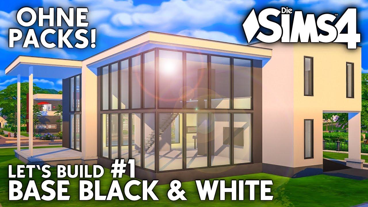 Die Sims 4 Haus Bauen Ohne Packs Base Black White 1 Grundriss