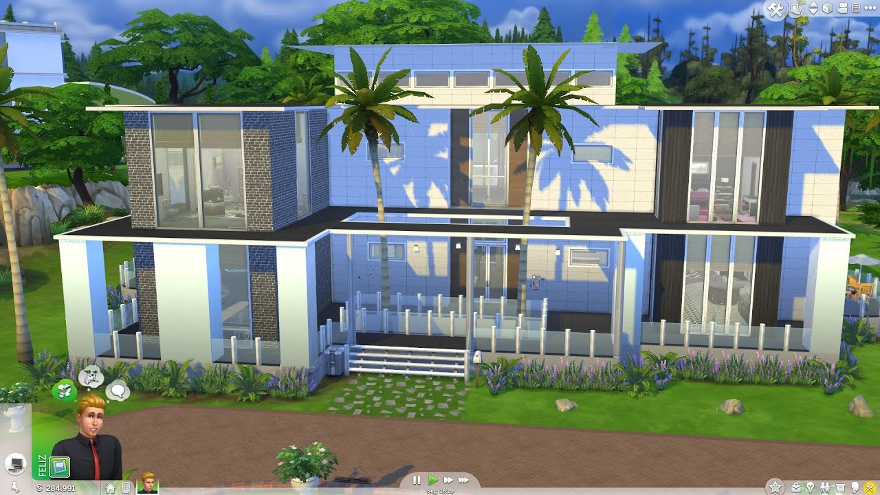 The sims 4 minha mans o parte 2 youtube for Casas modernas the sims 4