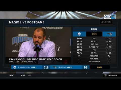 Frank Vogel -- Orlando Magic vs. Philadelphia 76ers 03/22/2018