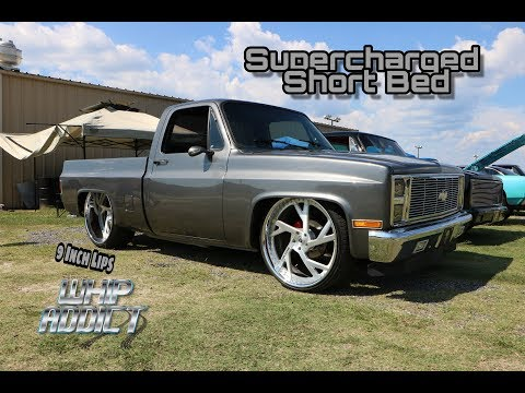 WhipAddict: Supercharged LS 86' Chevy C10 Silverado Short Bed on Corleone Forged 26x13s