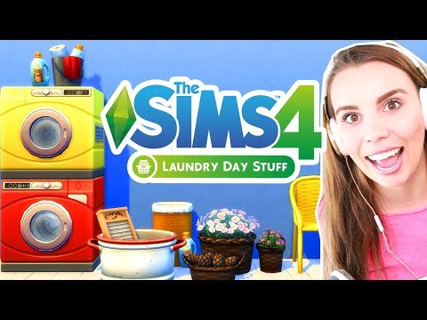 The Sims 4 Laundry Stuff Pack Review! Build and Buy!