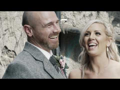 Michael + Porscha | Amazing Edinburgh Castle Fireworks | Wedding Film | Skybar Edinburgh