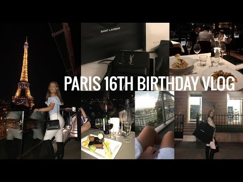 PARIS 16TH BIRTHDAY VLOG! | Lots of shopping + food!