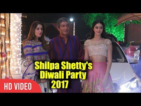 Chunkey Pandey With Daughter Ananya Pandey At Shilpa Shetty's Diwali Grand Party 2017 thumbnail