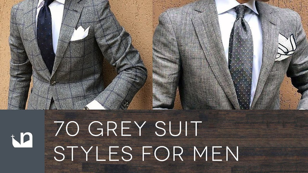 70 grey suit styles for men male fashion youtube