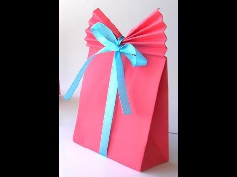 DIY crafts: How to Make a Paper GIFT BAG (Easy) + Tutorial . - YouTube