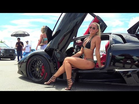 Lamborghini Aventador VS Huracan VS Ferrari VS McLaren MIP Super Speed Day HOT CARS & HOT GIRLS