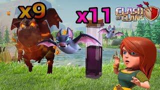 Spam de 9 lava e 11 feitiço de morcego?! (Clash Of Clans)