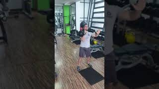 Kettlebell One Arm Press with Row Variations